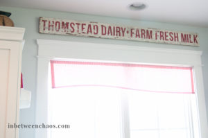 Vintage Sign with Iron on Transfers | inbetweenchaos.com