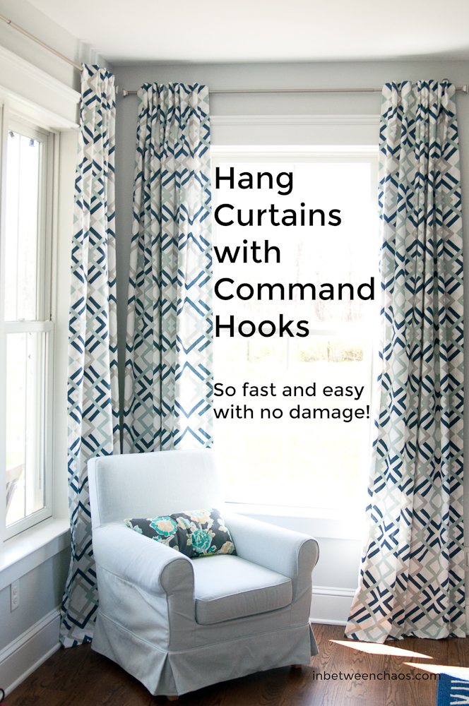 Hanging Curtain Rods With Command Hooks Target Curtain Rod