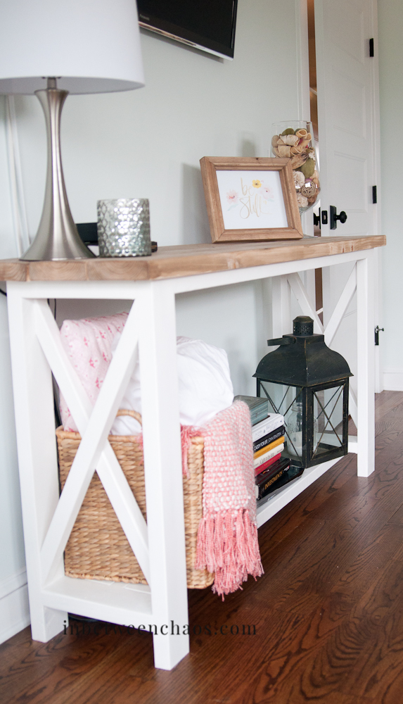 Rustic X Console Table | inbetweenchaos.com