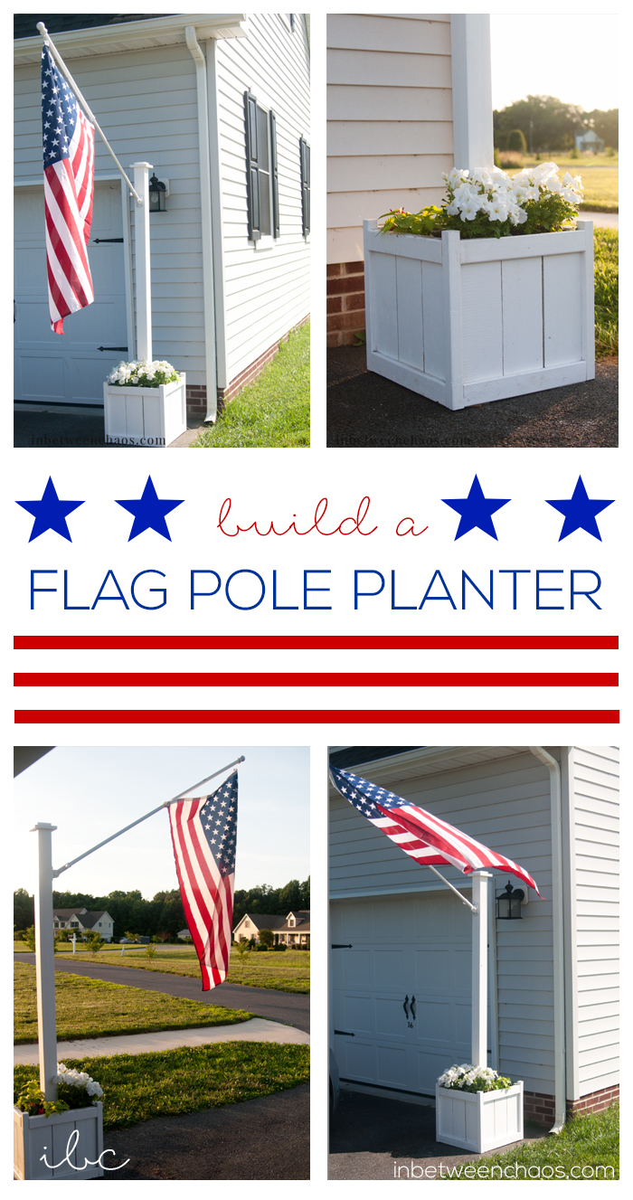 Build your own flag pole planter | inbetweenchaos.com