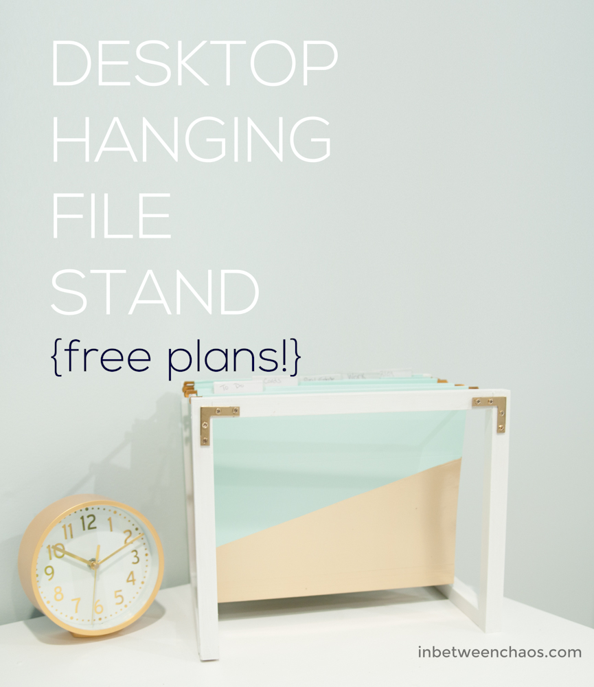Build your own desktop hanging file stand to beautify and organize your desk!