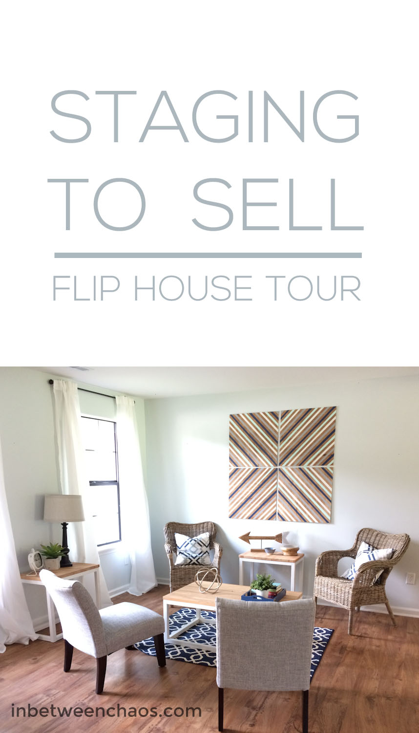 Staging an empty Flip House | inbetweenchaos.com