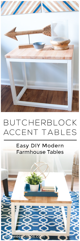 butcherblock coffee and end tables