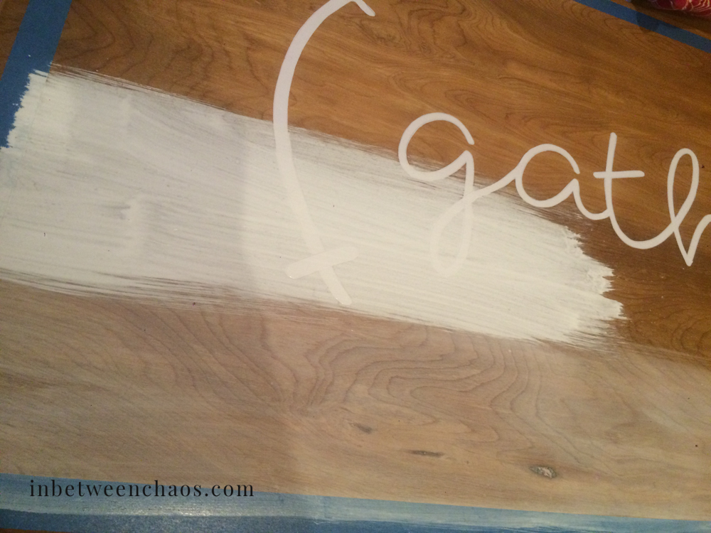 Whitewashed Reverse Stencil Wall Art | inbetweenchaos.com