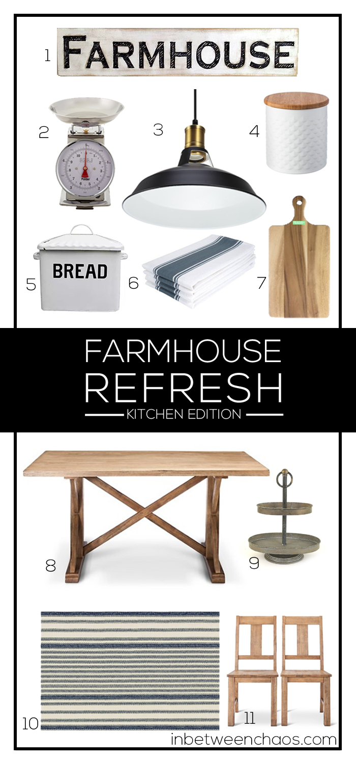 Farmhouse Refresh for the Kitchen | inbetweenchaos.com