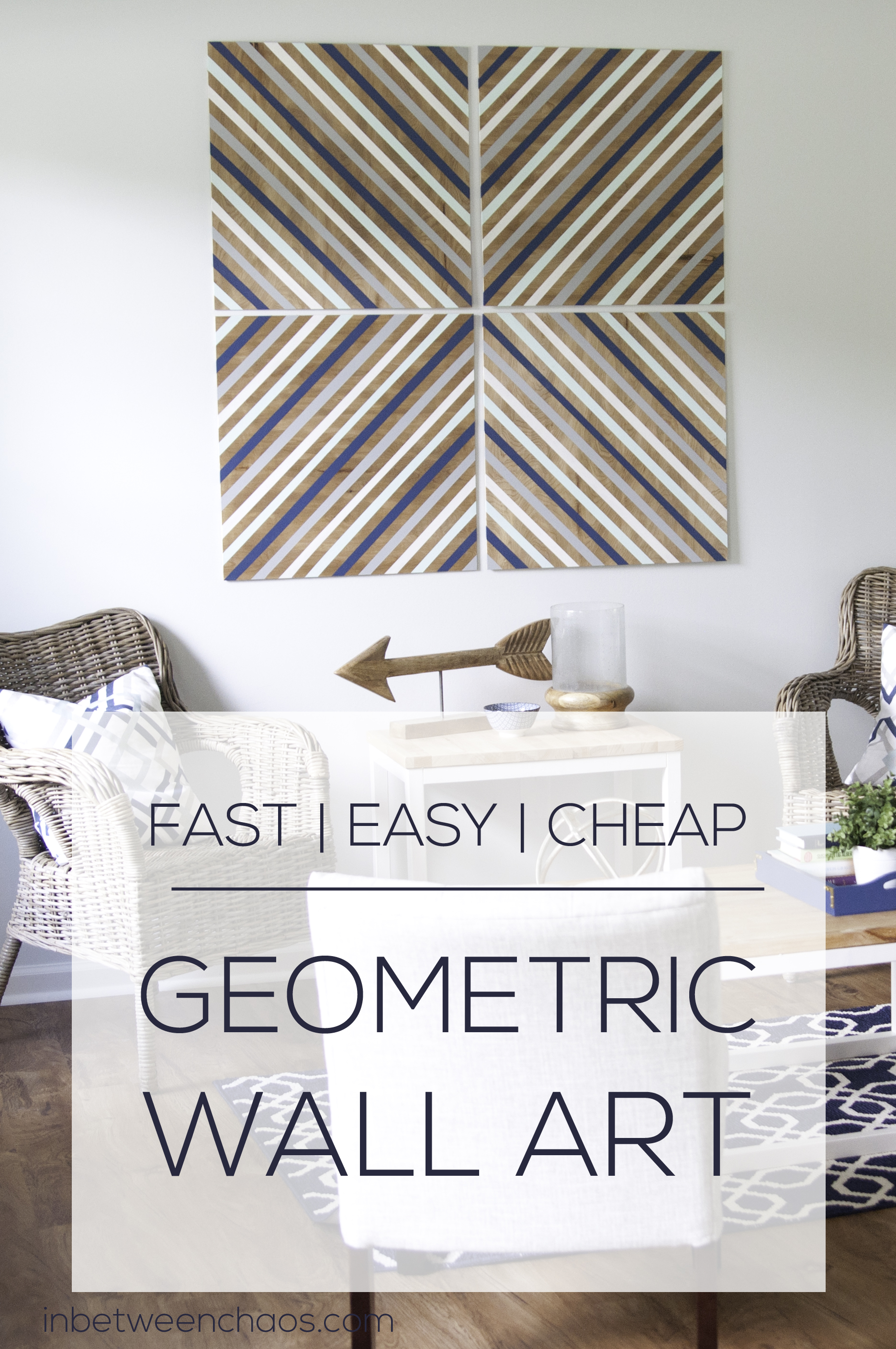 Cheap + Easy Big Wall Art | inbetweenchaos.com