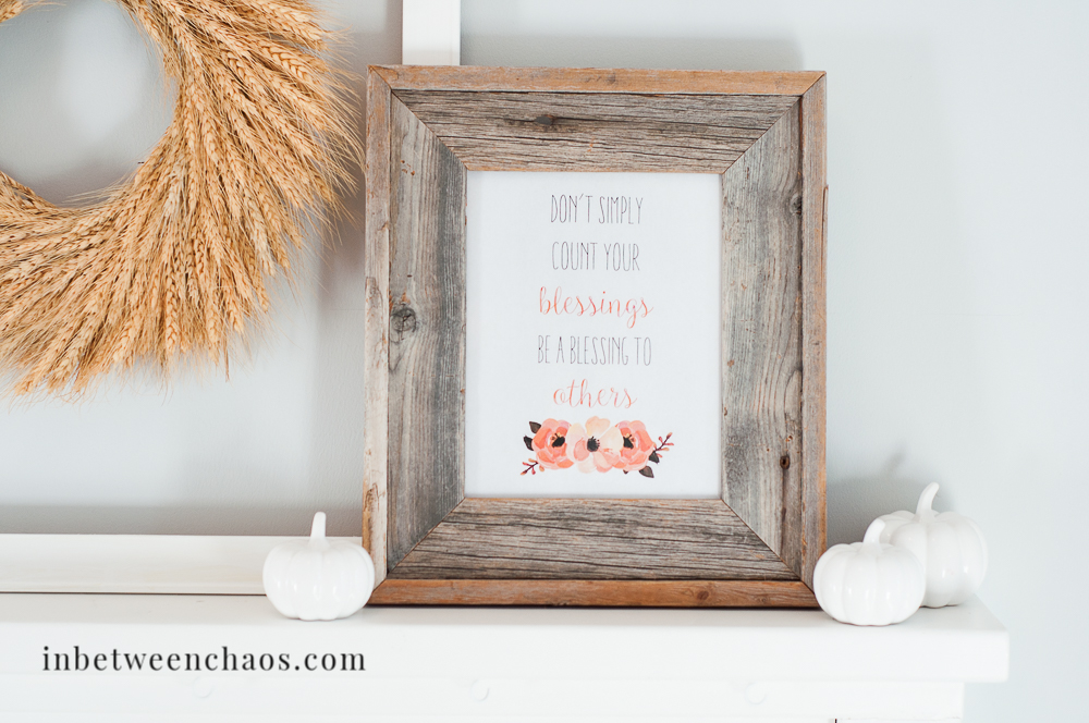 Be A Blessing – Free Printable