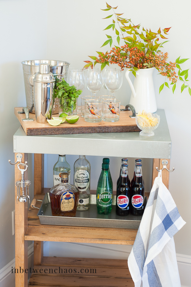 Thanksgiving Bar Cart | inbetweenchaos.com