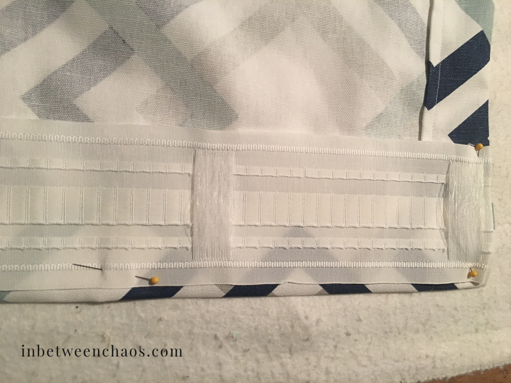 The secret to the easiest back tab curtains | inbetweenchaos.com