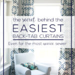 Super Easy Back Tab Curtains