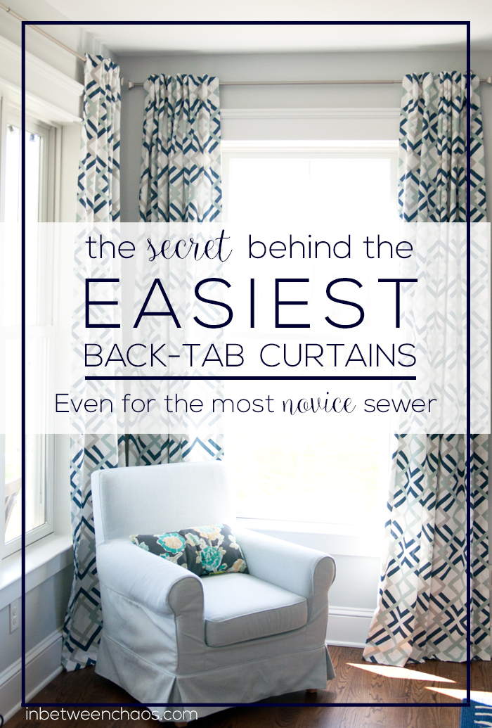 The Secret To Easiest Way Make Back Tab Or Pleated Curtains