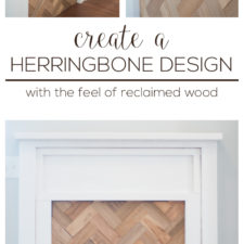 Herringbone Fireplace Insert – and a Happy Accident