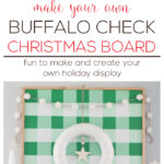 Buffalo Check Christmas Board