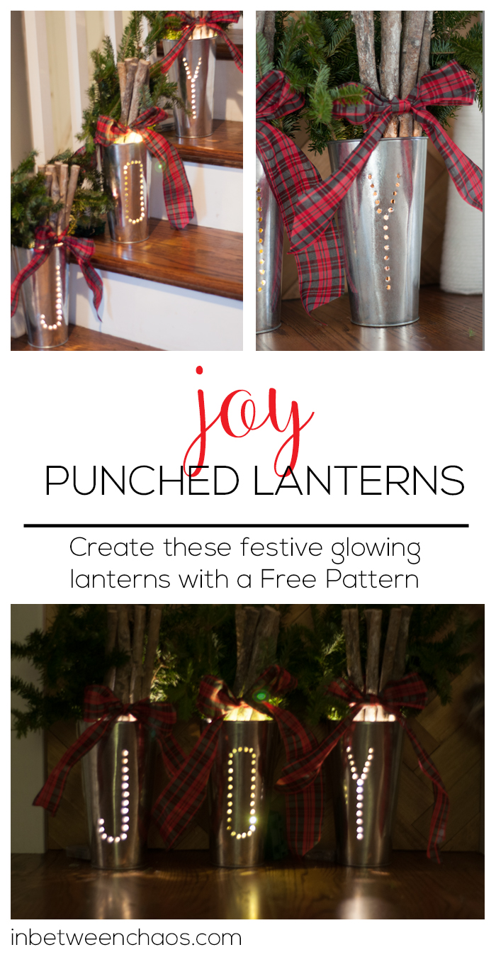 Create these festive glowing lanterns with a free pattern | inbetweenchaos.com