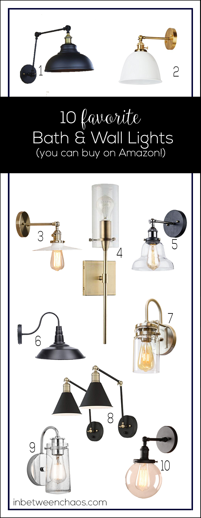 Favorite Bath & Wall Lights | inbetweenchaos.com