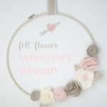 Valentine's Felt Flower Wreath