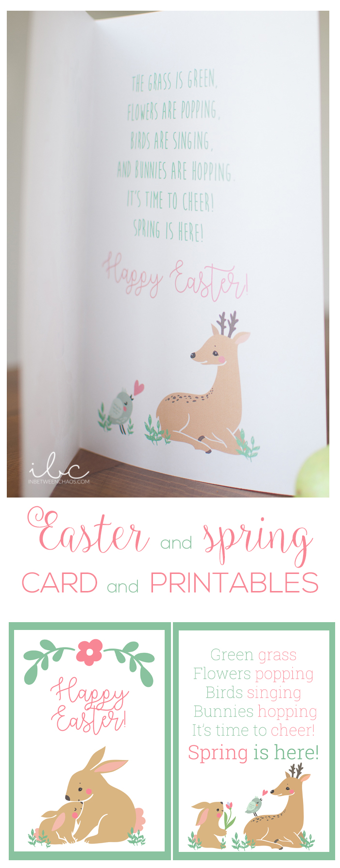 Easter and Spring Card and Printables | inbetweenchaos.com