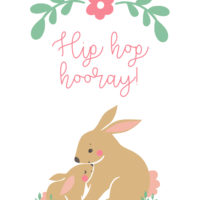 Easter and Spring Printables and Card