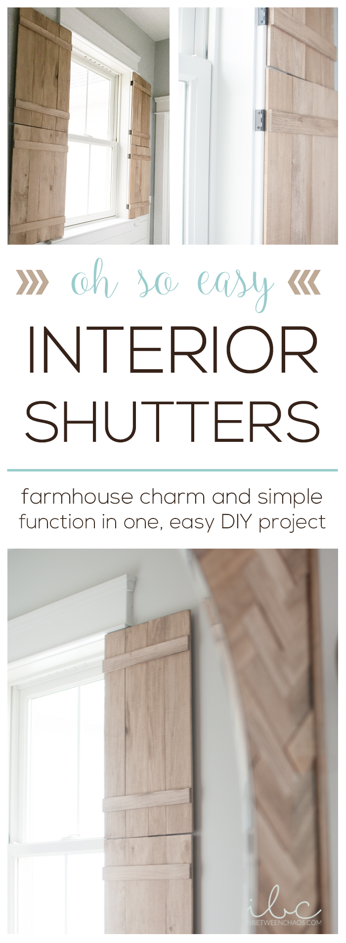 DIY Interior Shutters | inbetweenchaos.com