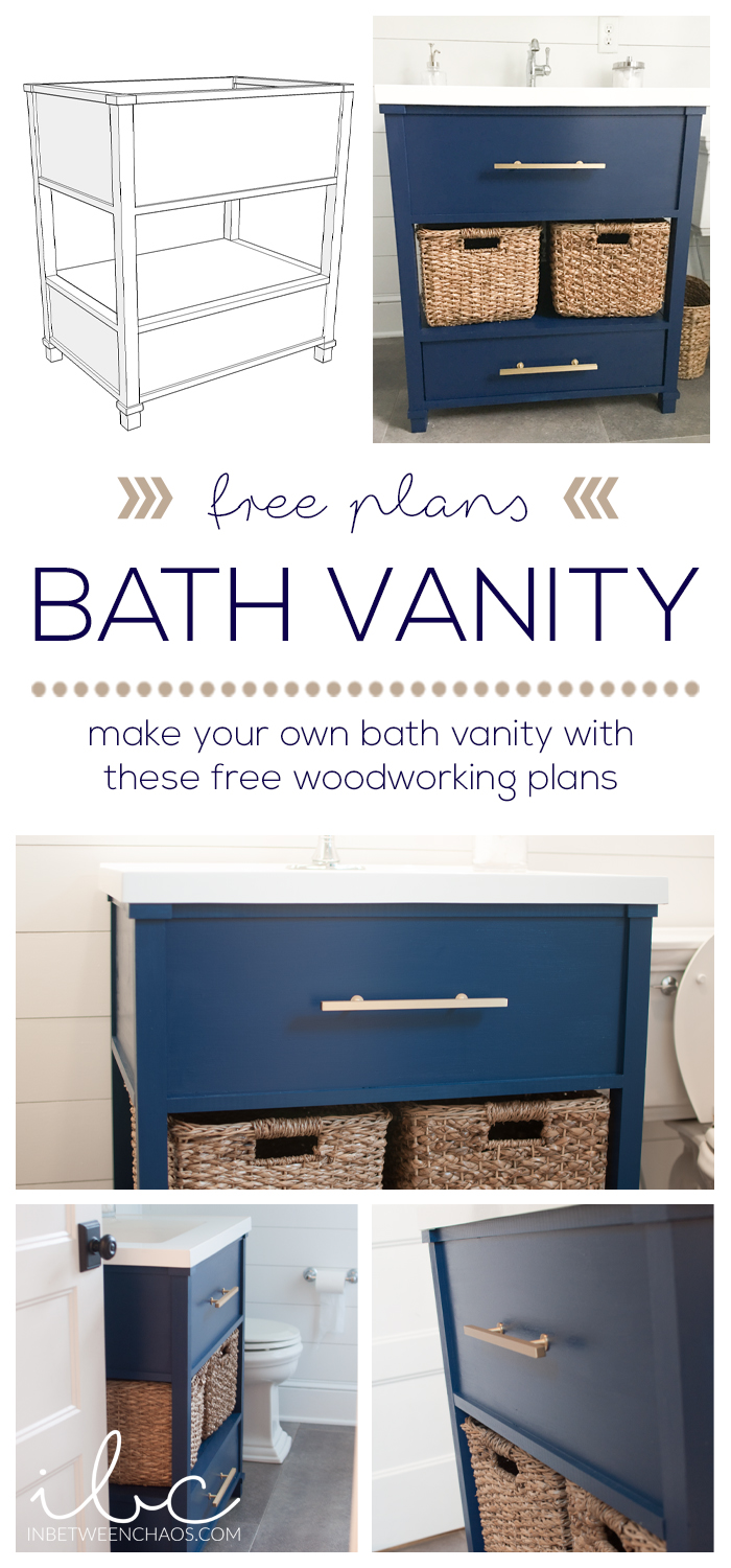 Bath Vanity Woodworking Plans | inbetweenchaos.com