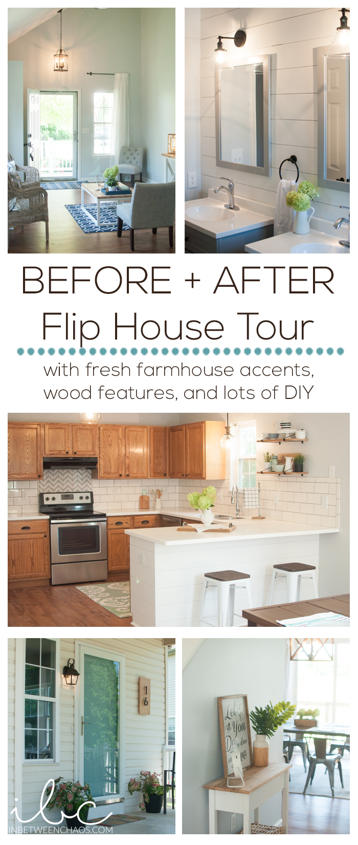 Before & After Flip House Tour | inbetweenchaos.com