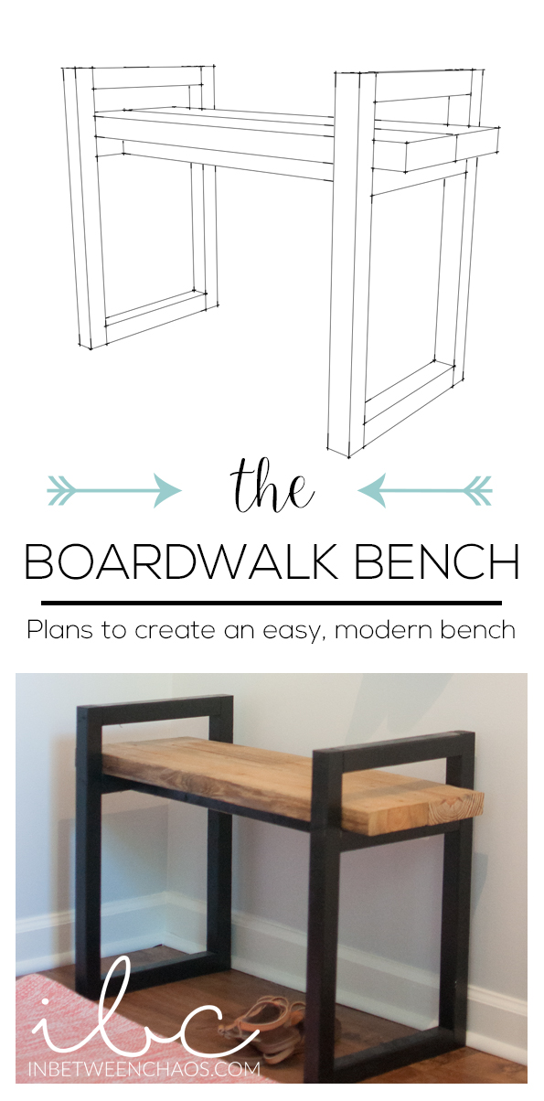 Plans for an easy modern bench | Perfect starter project | inbetweenchaos.com