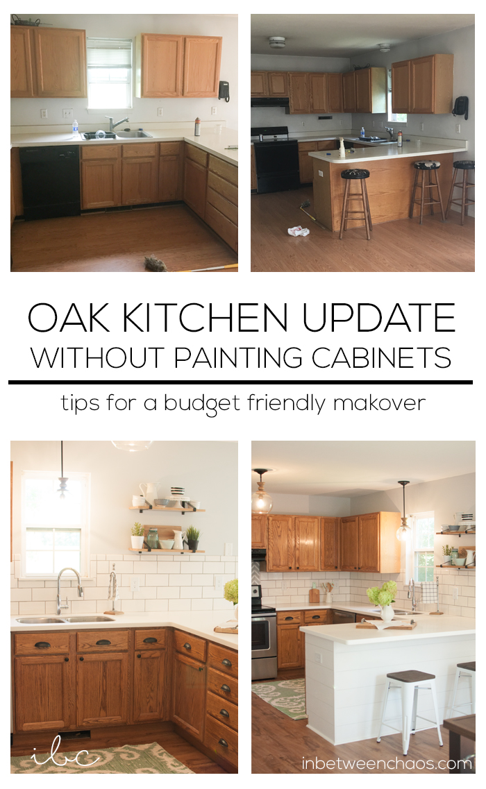Easy Budget Friendly Ways To Update Your Kitchen Without Painting The  Cabinets! | Inbetweenchaos