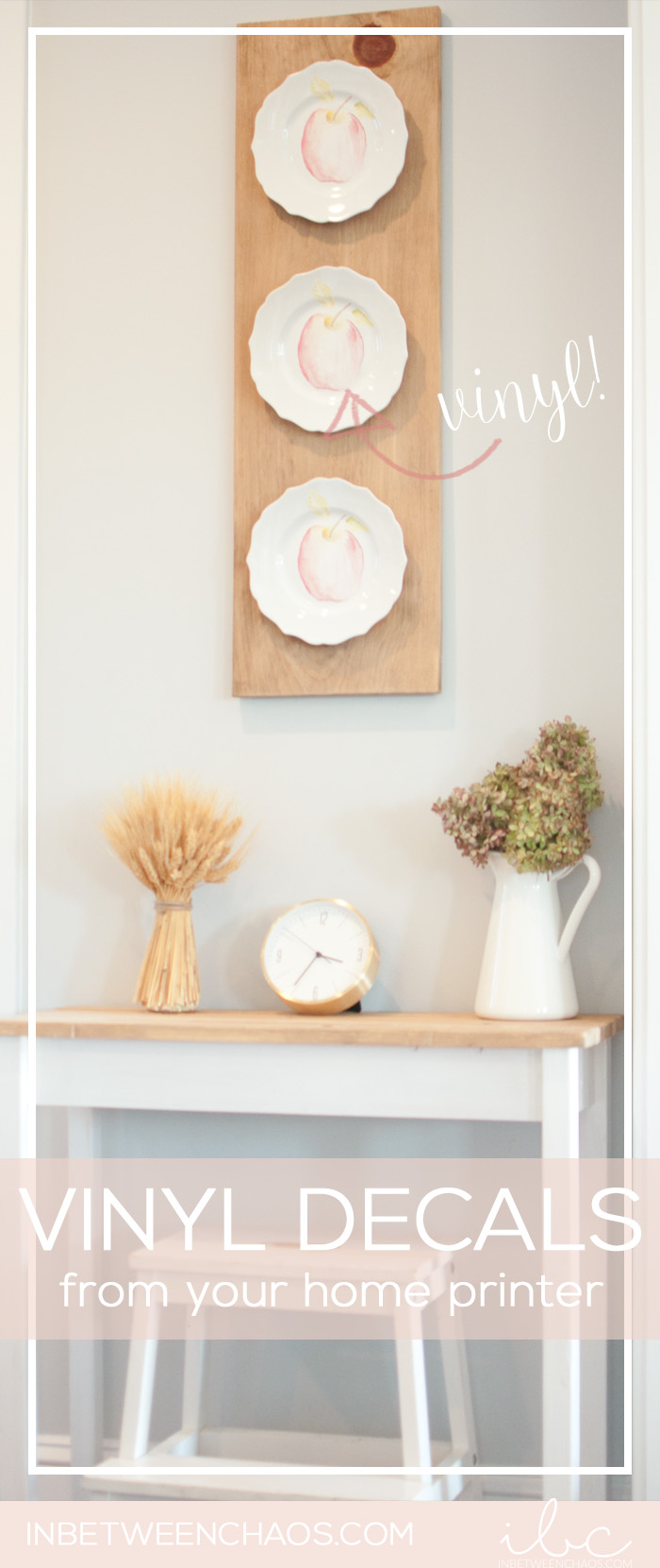 Update your decor for the season with these easy plate decals | inbetweenchaos.com