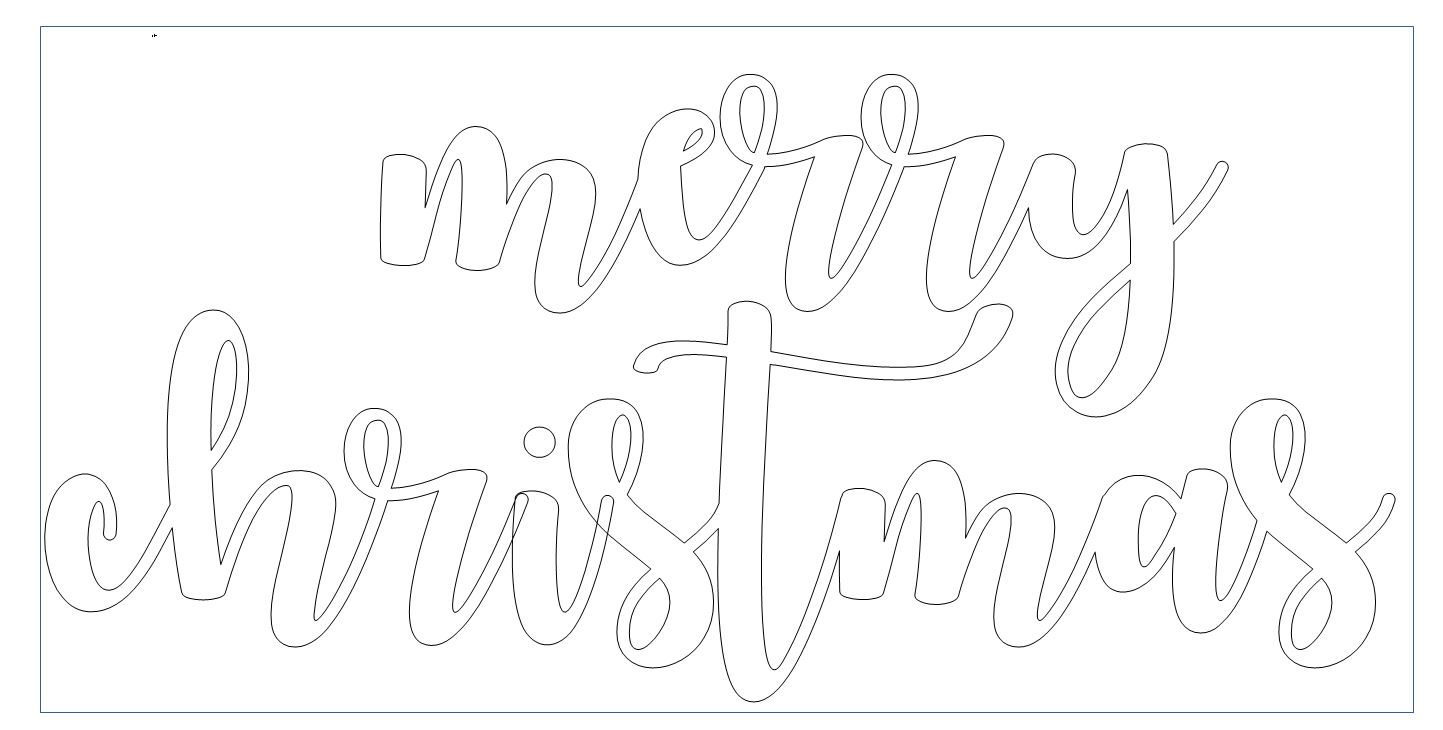 Merry Christmas In Cursive.Diy Cut Words With Free Templates