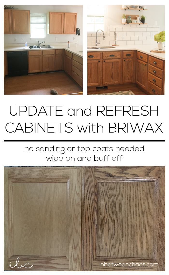 Update and Refresh Cabinets with Briwax | inbetweenchaos.com