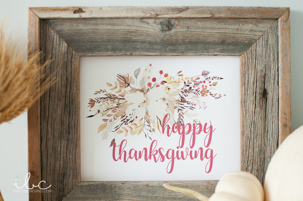 Happy Thanksgiving Free Fall Printables | inbetweenchaos.com