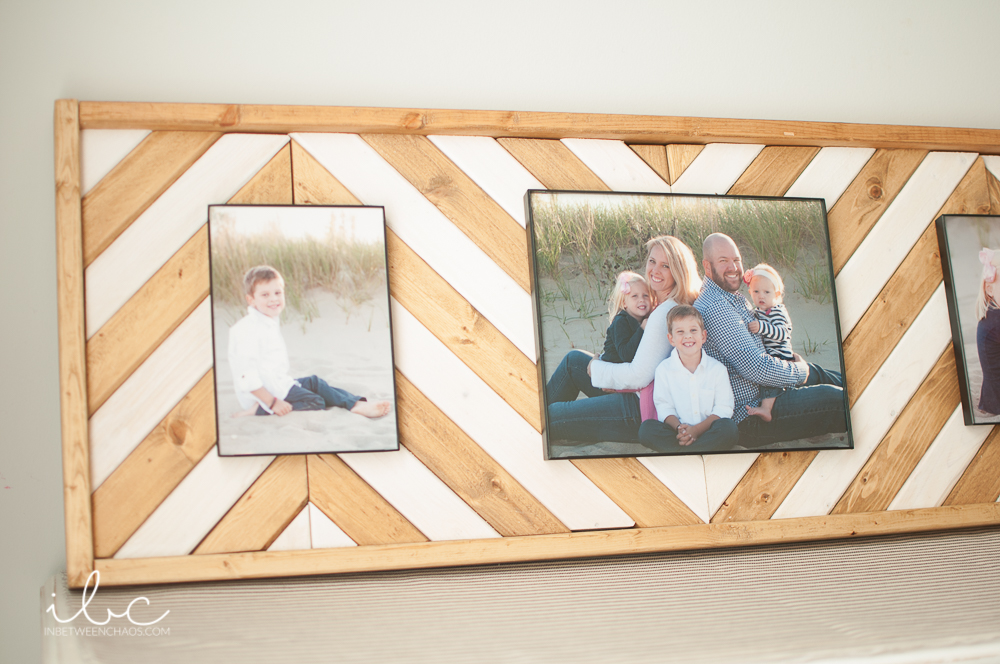 Wooden Chevron Picture Frame | inbetweenchaos.comWooden Chevron Picture Frame | inbetweenchaos.com