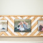 Wooden Chevron Picture Frame