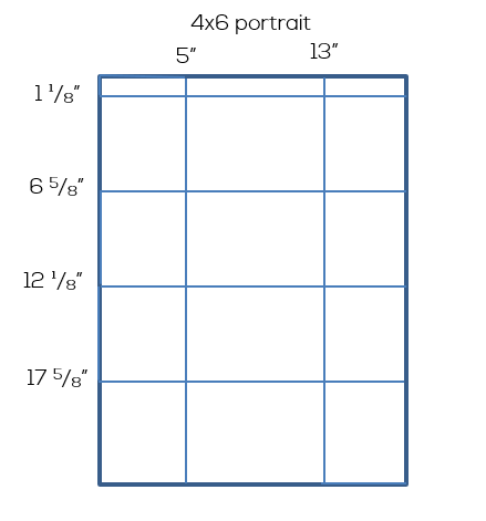 Simple Snapshot Frame Portrait Layout | inbetweenchaos.com