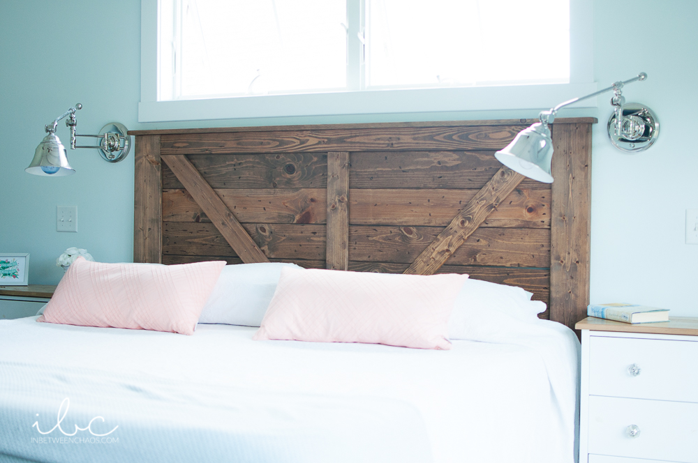 Barn Door Headboard | inbetweenchaos.com