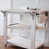 Drop-Leaf Work or Craft Cart