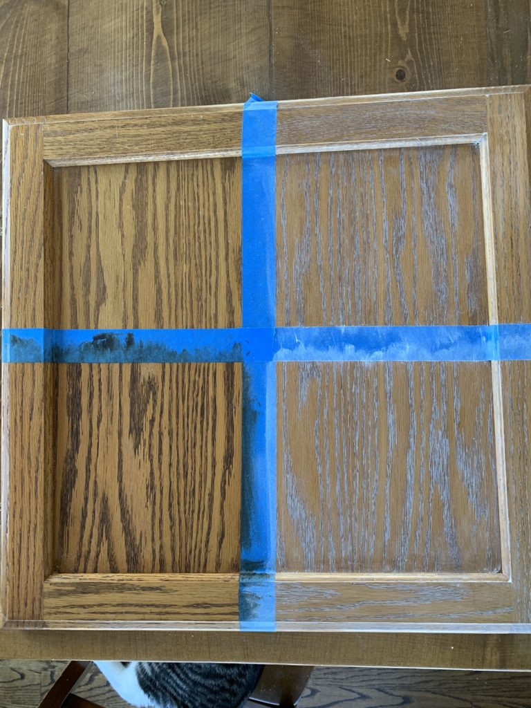 Liming Wax on Oak Cabinets